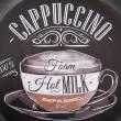 cappucino dekoracyjna tabliczka metalowa