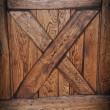 Łączenie X w drzwiach przesuwnych. Kolor olej kawa