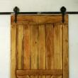 Drzwi Barn na stalowym systemie z przetarciami Loft