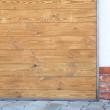 drzwi industrialne drewno stal