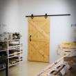 rustykalne drzwi sosnowe