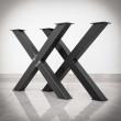 noga do stołu czarna i stalowa
