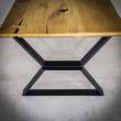 metalowa noga do kwadratowego stołu