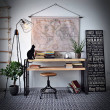 loftowe wnętrza, meble stalowe, industrialne, vintage