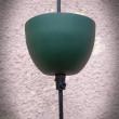 stalowa lampa zielona