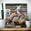 metalowy obraz 3d rodeo