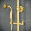 mosiężne zestawy prysznicowe złote