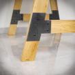 noga do stolika stalowa meblowa