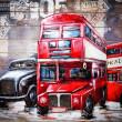 retro autobus z londynu