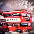 obrazy z metalu angielski autobus