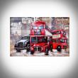 Angielski czerwony autobus obraz 3d
