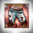 obraz 3D jeans