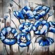 kwiaty niebieskie obraz