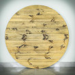 blat okrągły drewniany