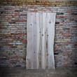 drzwi lodtowe z kawałka drewna