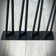 nogi stalowe do mebli czarne