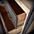 regał z szufladami w stylu loft vintage