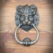 starodawna kołatka lew