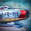 samolot retro obraz 3d