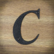 stalowe litery alfabet