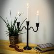świecznik aluminiowy trzy świeczki
