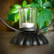 świecznik metalowy ważka