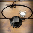 świecznik rusałka metalowy