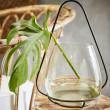 szklany świecznik retro