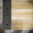 szafka pod telewizor z metalu i drewna
