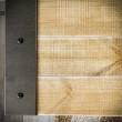 szafka rtv z drewna i metalu w stylu loft