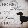 tabliczka dekoracyjna pies