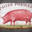 tabliczka dekoracyjna świnia