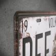 tabliczka dekoracyjna z metalu loft