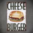 tabliczka metalowa cheesburger