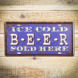 Tabliczka ozodbna metalowa ice cold beer