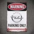 tabliczka ozdobna opel parking