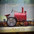 zegar w kształcie traktora