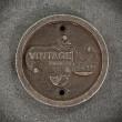 żeliwny emblemat vintage