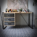 loftowe biurka ze stali i drewna