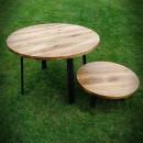 blaty okrągle z drewna do stołu do jadalni