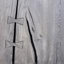 drewniany blat w kolorze szarości