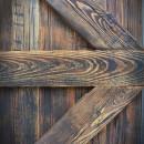 Rustykalny styl postarzanych drzwi