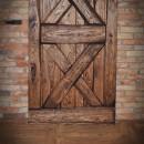 Przesuwne drzwi brąz wykończenie 2X