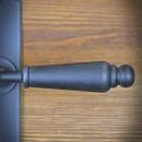 stalowa antyczna klamka