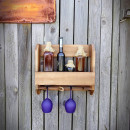 drewniana półka na wino