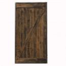 Drzwi szarpane w ramie stalowej ciemny brąz