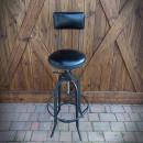Krzesło barowe czarne