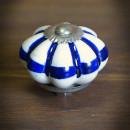 gałka ceramicza biało-niebieska
