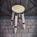 hoker drewniany i metalowy