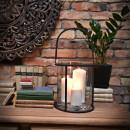 Lampion świecznik stalowy